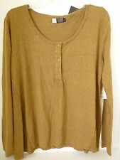NEW VOLCOM HURRY UP HENLEY L/S PULLOVER TOP TEE  SMALL MEDIUM Army code L85