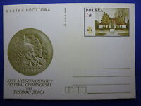 LOT 12571 TIMBRES STAMP ENVELOPPE MUSIQUE POLOGNE ANNEE 1980