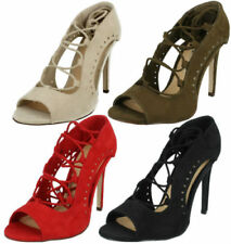 High (3 in. to 4.5 in.) Lace Up Sandals Heels for Women