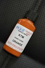 NEW KTM ORANGE TOUCH UP BOTTLE KIT BRUSH PAINT MX PAINT PANELS FRAME MOTOCROSS
