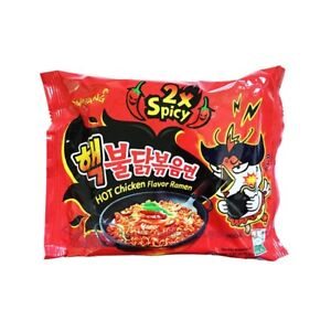 Samyang 2x Spicy Hot Chicken Noodle Extra Hot Nuclear Ramen ( Pack Of 1,2,5,10)