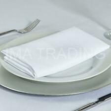 WHITE ROUND TABLECLOTH POLYESTER TABLE CLOTH VARIOUS SIZES
