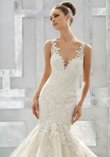MORI LEE MADELINE GARDNER wedding dress fish tail mermaid fits 10 - 14