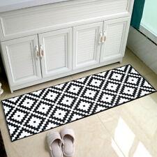 Non Slip Black Door Mat Indoor Outdoor Kitchen Hallway Floor Rug Bedroom Carpet