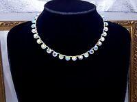 Vintage Aurora Borealis paste crystal Riviera Necklace.