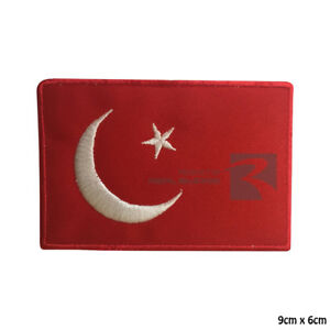 Turkish National Flags Embroidery Iron on Or Sew On Patch Badge For Clothes etc