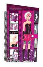 Drawing Pad Pink Black Fashion Collection Design Illustrated Girls Sticker