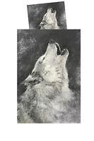Ropa de Cama Wolf Conjunto Set Funda Cojín Nórdica 2teilig 80x80 135x200 Lobos