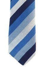 Skinny TIE Azul Marino Gris Azul Hortex Nuevo Estilo Uniforme Escolar rayas corto irlandés