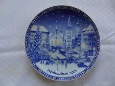 Weihnachts-Teller 2003 Wandteller Retsch Porzellan München Marienplatz Markt