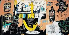 """Jean Michel Basquiat Oil Painting on Canvas wall decor 16x32"""" Expressionism"""
