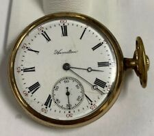 1910 Hamilton 975 16 Size 17 Jewel Gold Filled Pocket Watch