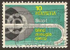 Scott # 480 - 1967 - ' White Cane & Car Wheels '; Granite Paper