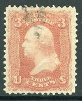 USA 1867 Washington 3¢ Pink  F Grill Scott # 94 VFU B715 ⭐⭐⭐⭐⭐⭐