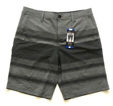 O'Neill Mens' Hybrid Shorts, Heather Grey Striped, Size 32, NWT