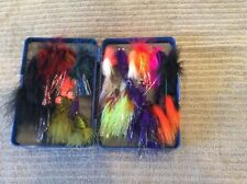 5 3/4�x 1 3/8� X 4� Fly Box Case With Over 25 Quality Flies & Streamers B35