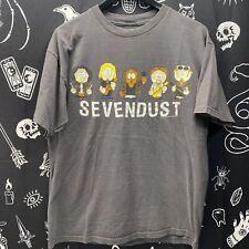 Vintage Sevendust Band Shirt Southpark Giant Tag Large 2000 Rare