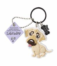 Cream Yellow Labrador 3D Key Ring Bag Charm Tag Dog Lovers Gift Stocking Filler