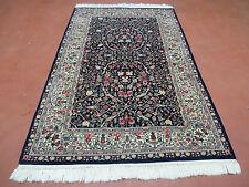 4' x 6' Vintage handgefertigter Persischer BAM Kirman Wolle Orientteppich Teppich fein gewebt schön