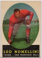 1958 Topps #89 Leo Nomellini EX/EX San Francisco 49ers FREE SHIPPING