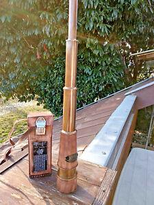 Telescope longue vue longueur 59cm diametre 7cm laiton gainé cuir avec étui