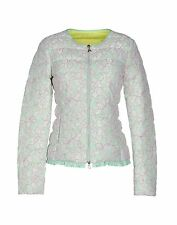 NWT PATRIZIA PEPE GREEN PINK LACE GUIPPURE SPRING ZIPPER JACKET SIZE 42 SMALL