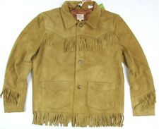 Levi's LVC Suede Leather Fringe Jacket  Slim Fit Made In Italy Levis Retro Style