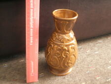 EMBOSSED  SYLVAC   BROWN VASE   5224