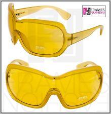 PRADA Illusion Oversized Shield PR18OS Translucent Yellow GAD-9V1 Sunglasses 18O
