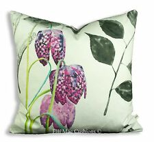 Designers Guild Mokuren Luxury Designer Fabric Graphic Pink  Cushion Cover
