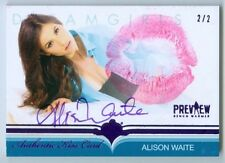 "ALISON WAITE ""KISS AUTOGRAPH CARD #2/2"" BENCHWARMER DREAMGIRLS PREVIEW 2016"