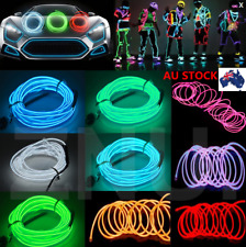 1M/2M/3M/5M LED EL Wire Rope Cool Flexible Neon Glow Car Party Light +Controller