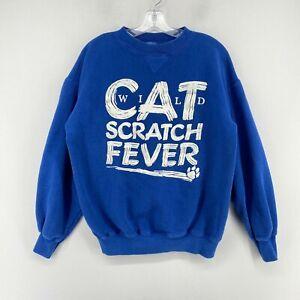Vintage Starter UK Wildcats CAT SCRATCH FEVER Pullover Adult XL Sweatshirt USA *