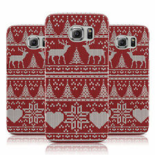 DARK RED CHRISTMAS JUMPER KNIT PATTERN CASE FOR SAMSUNG GALAXY MOBILE PHONES