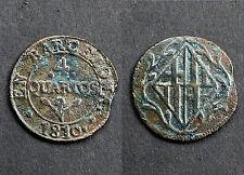 4 Quartos 1810 Barcelona. Espagne. Cuivre/ Copper