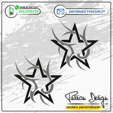 """Stickers Adesivi  """"Stella Tribale"""" 2 pz. speculari decorazione auto, moto, casco"""