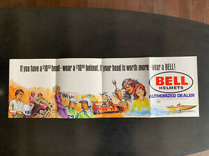 #46 Late 1970s Bell Helmet Promotion Poster; Very Rare!! 500-TX, Cragar,