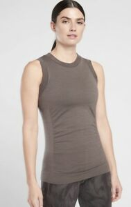 ATHLETA Foresthill Ascent Tank Xsmall Coffee House Work Travel Top #486285