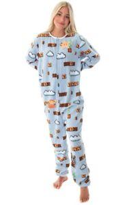 Official Nintendo NES Super Mario Level 1-1 Sleepwear Onesie0 Pajama!