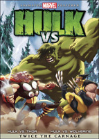 HULK VS. THOR & HULK VS. WOLVERINE TWICE THE CARNAGE (DVD, MARVEL)