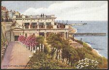 Leas Cliff Hall, Folkestone, Kent. J Salmon 1953 Posted Art Drawn Card #3191