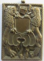 HUGUENIN Engrave token 18,LUZERNER KANTONAL-SCHUTZENFEST LUZERN1970 IMAGE LIONS