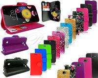 For LG K3 K100 New Black Pink Purple Leather Flip Book Wallet Phone Case Cover