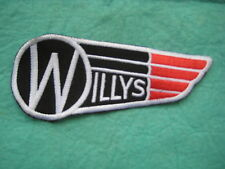 "Willys Wing Gasser Racing Uniform Patch 4 3/4"" X 2 """