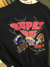 Vintage 1995 NFL Football 49ers Chargers Super Bowl XXIX Sweat Shirt X-LARGE XL