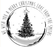 LASER PERSONALIZZATA Rubber Stamp-Christmas bauble