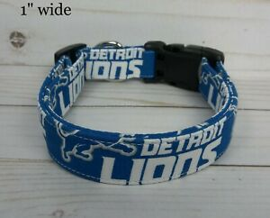 Detroit Lions NFL Terri's Dog Collar custom handmade adjustable 2021 fabric