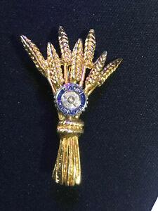 Beautiful Vintage Rotary International WOMAN PIN BRONCH FOR LADIES GOLD TONING!