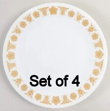 Set of 4 Corning Ware Corelle Butterfly Gold Salad Plates 8.5''