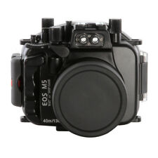 40m/130ft Waterproof Camera Diving Housing Case for Canon EOS M5 (18-55mm )Lens